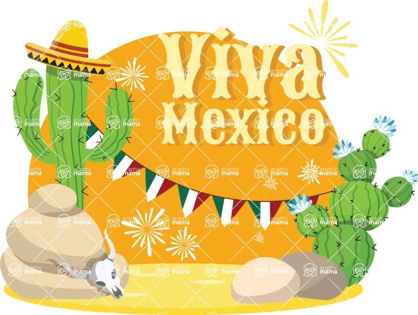 Mexico Vectors - Mega Bundle - Mexico Desert Sticker