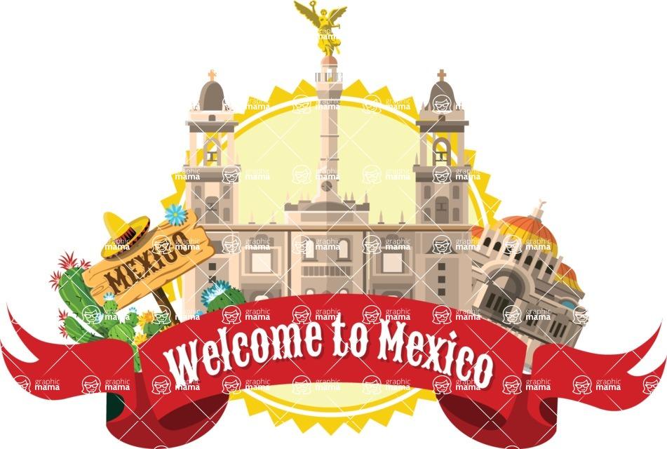 Mexico Vectors - Mega Bundle - Mexico City Landmarks Sticker