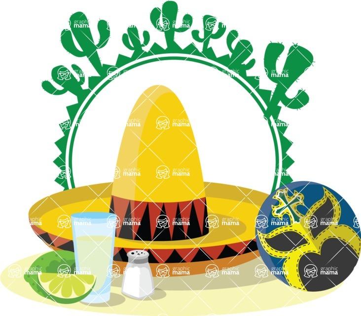 Mexico Vectors - Mega Bundle - Mexican Sombrero Sticker