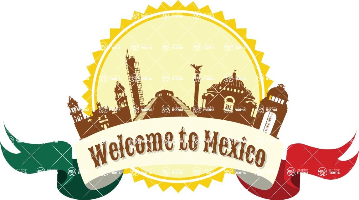 Mexico Vectors - Mega Bundle - Welcome to Mexico Badge