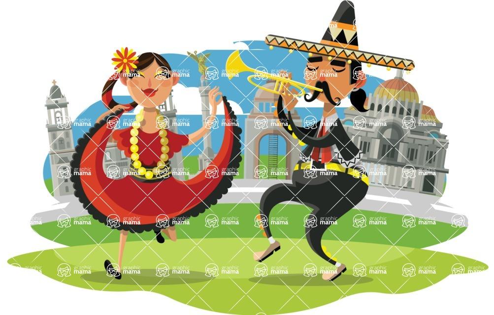 Mexico Vectors - Mega Bundle - Dancers in Mexico City
