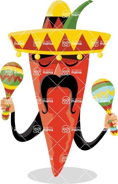 Chili Pepper Mexican Musician