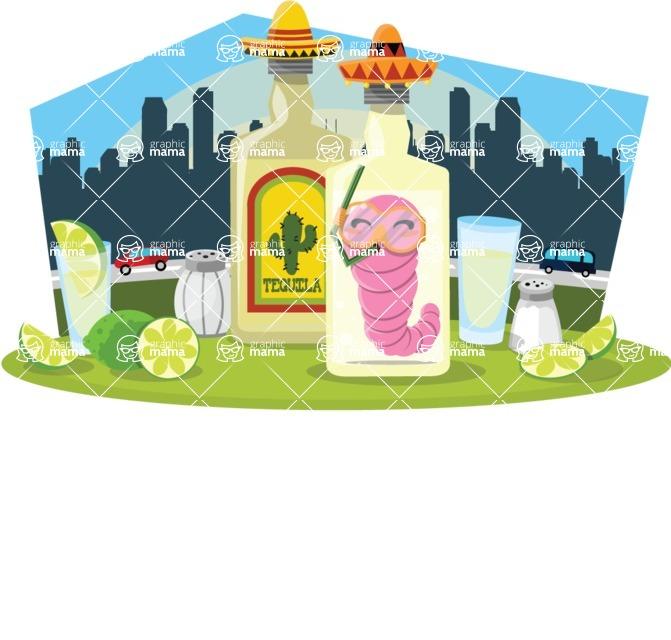 Mexico Vectors - Mega Bundle - Mexican Tequila Bottles and Shots