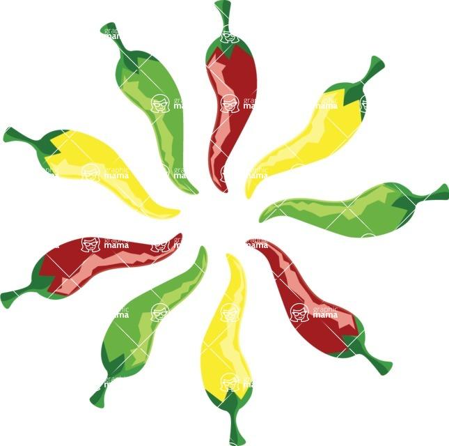 Mexico Vectors - Mega Bundle - Mexican Chili Peppers