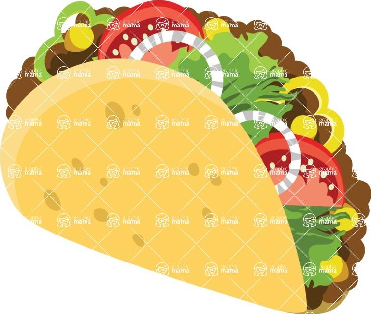 Mexico Vectors - Mega Bundle - Mexican Taco 1