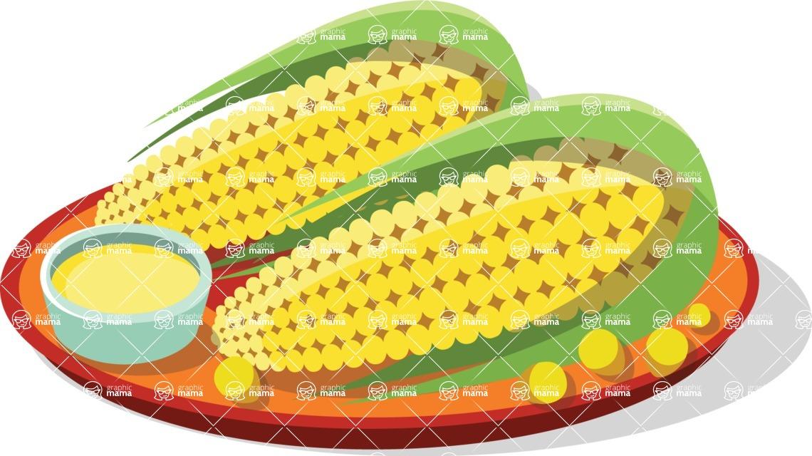 Mexico Vectors - Mega Bundle - Corns on a Plate