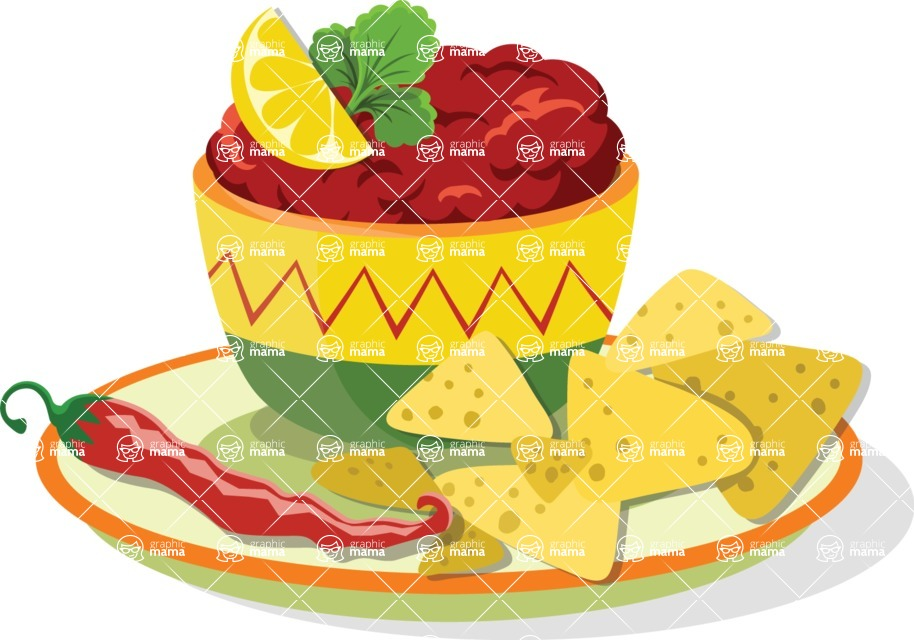 Mexico Vectors - Mega Bundle - Mexican Dish with Nachos