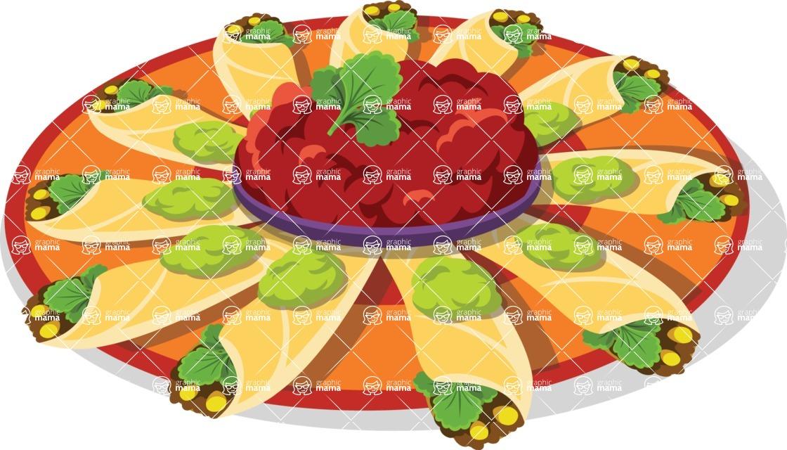Mexico Vectors - Mega Bundle - Mexican Enchiladas Dish