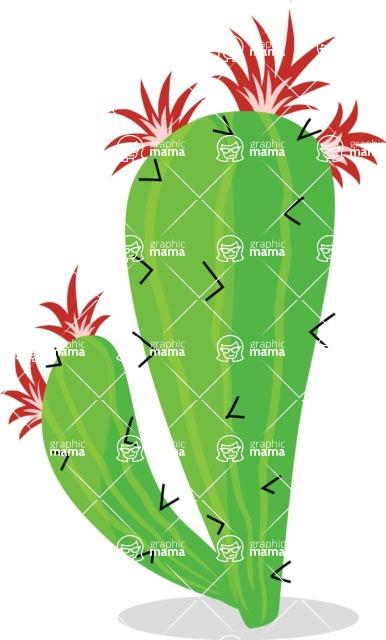 Mexico Vectors - Mega Bundle - Prickly Pear Cactus Blooming