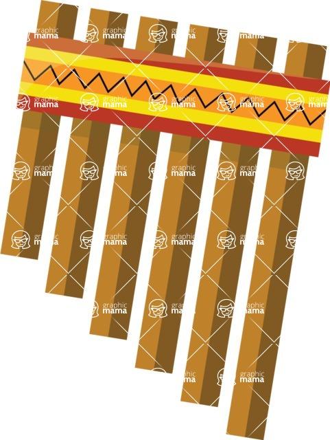 Mexico Vectors - Mega Bundle - Pan Flute