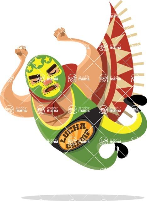 Mexico Vectors - Mega Bundle - Mexican Wrestler Jump