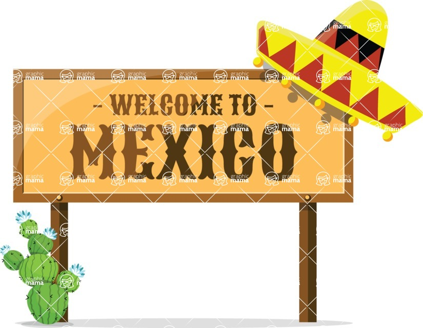 Mexico Vectors - Mega Bundle - Welcome to Mexico Sign