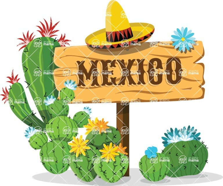 Mexico Vectors - Mega Bundle - Mexico Wood Sign