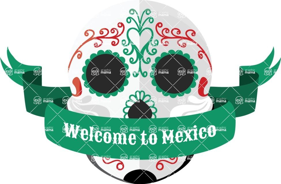 Mexico Vectors - Mega Bundle - Mexico Day of the Dead Skull