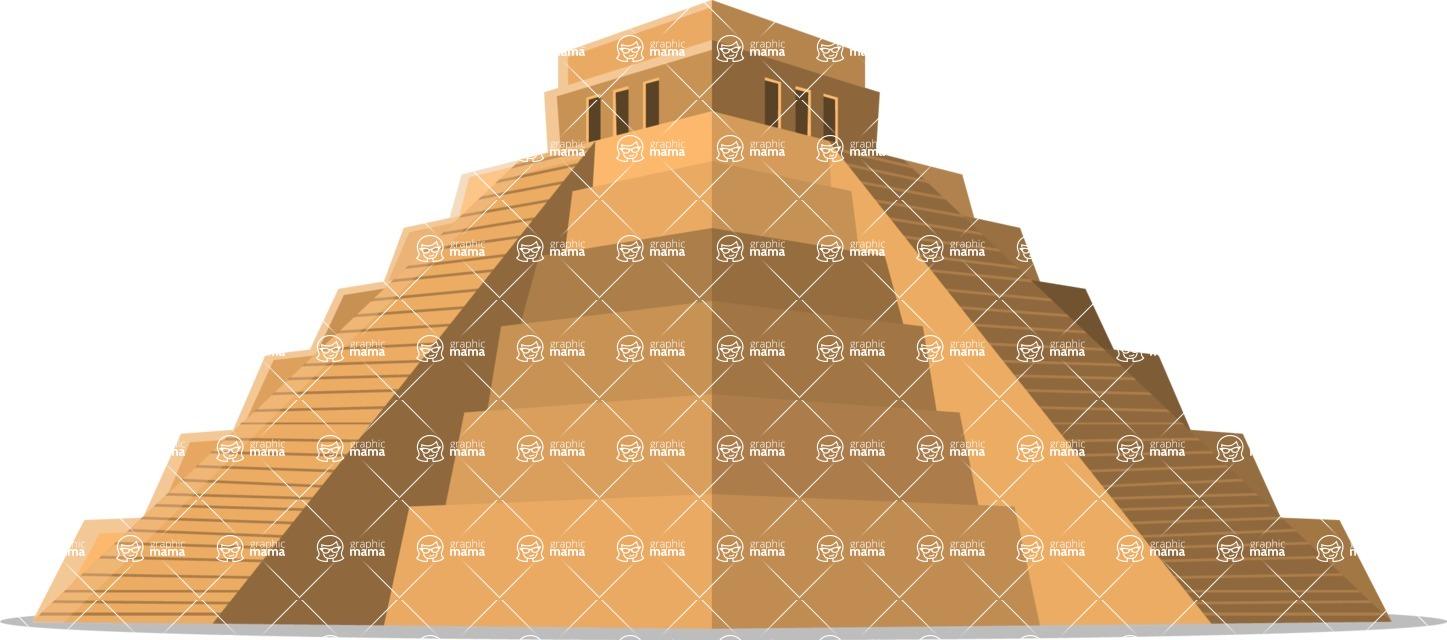Mexico Vectors - Mega Bundle - Mayan Pyramid in Mexico