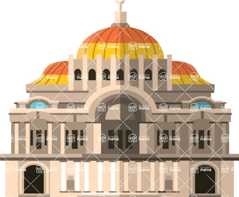 Mexico Vectors - Mega Bundle - Palace of Fine Arts Mexico