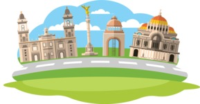 Mexico Vectors - Mega Bundle - Mexico City Landmarks