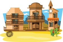 Mexico Vectors - Mega Bundle - Wild West Town