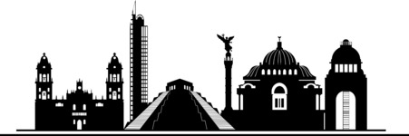 Mexico Vectors - Mega Bundle - Mexico City Landmarks Silhouettes