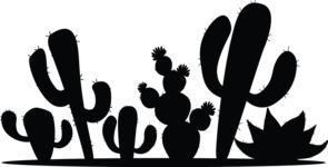 Mexico Vectors - Mega Bundle - Cactuses Silhouettes