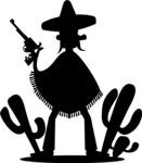 Mexico Vectors - Mega Bundle - Mexican Bandit Silhouette