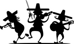 Mexico Vectors - Mega Bundle - Mariachi Musicians Silhouettes