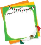 Mexico Vectors - Mega Bundle - Frame with Mexican Banner Flags