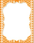 Frame in Mexican Pattern