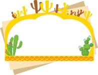 Mexico Vectors - Mega Bundle - Cactus Frame