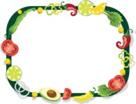 Mexico Vectors - Mega Bundle - Vegetables Frame