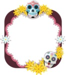 Mexico Vectors - Mega Bundle - Mexican Skull Mask Frame
