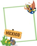 Mexico Vectors - Mega Bundle - Mexico Themed Frame