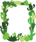 Mexico Vectors - Mega Bundle - Frame of Cactuses