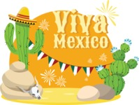 Mexico Vectors - Mega Bundle - Mexico Desert Sticker