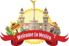 Mexico City Landmarks Sticker