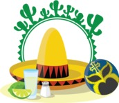 Mexico Vectors - Mega Bundle - Mexican Sombrero Sticker