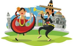 Mexico Vectors - Mega Bundle - Dancers in Mexico City