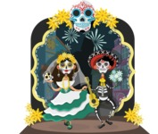 Mexico Vectors - Mega Bundle - Day of the Dead Mexican Festival