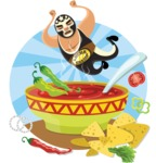 Mexico Vectors - Mega Bundle - Mexican Wrestler Falling Into Chili Soup