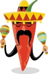 Mexico Vectors - Mega Bundle - Chili Pepper Mexican Musician
