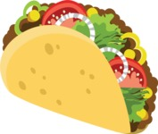 Mexico Vectors - Mega Bundle - Mexican Taco 1