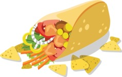 Mexico Vectors - Mega Bundle - Mexican Burrito 2