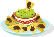 Mexico Vectors - Mega Bundle - Mexican Nachos Dish
