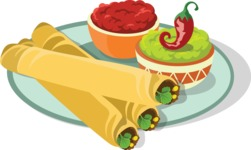 Mexico Vectors - Mega Bundle - Mexican Tortilla Wraps