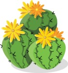 Mexico Vectors - Mega Bundle - Cactus with Yellow Flowers