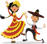 Mexico Vectors - Mega Bundle - Mexican Folk Dancers