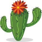 Mexico Vectors - Mega Bundle - Cactus with a Flower Top