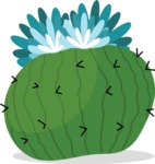 Mexico Vectors - Mega Bundle - Round Cactus Blooming