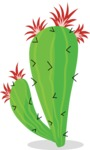 Mexico Vectors - Mega Bundle - Prickly Pear Cactus Blooming
