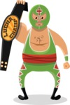 Mexico Vectors - Mega Bundle - Mexican Wrestler with Belt